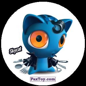 PaxToy.com  Фишка / POG / CAP / Tazo 185 Skycat из Gamesa: Super Funki Punky