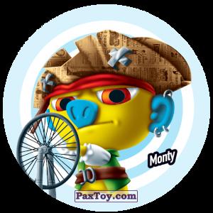 PaxToy.com  Фишка / POG / CAP / Tazo 189 Monty из Gamesa: Super Funki Punky
