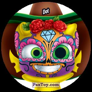 PaxToy.com  Фишка / POG / CAP / Tazo 191 Dot из Gamesa: Super Funki Punky