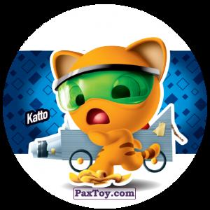 PaxToy.com  Фишка / POG / CAP / Tazo 196 Katto из Gamesa: Super Funki Punky