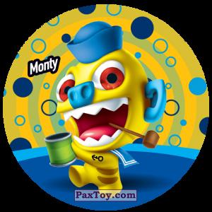PaxToy.com  Фишка / POG / CAP / Tazo 199 Monty из Gamesa: Super Funki Punky