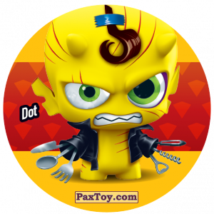 PaxToy.com  Фишка / POG / CAP / Tazo 201 Dot из Gamesa: Super Funki Punky