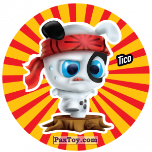 PaxToy.com  Фишка / POG / CAP / Tazo 204 Tico из Gamesa: Super Funki Punky