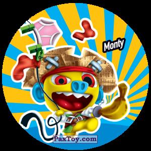 PaxToy.com  Фишка / POG / CAP / Tazo 205 Monty из Gamesa: Super Funki Punky