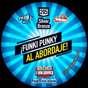 PaxToy.com - Фишка / POG / CAP / Tazo 205 Monty (Сторна-back) из Gamesa: Super Funki Punky