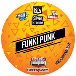 PaxToy.com - Фишка / POG / CAP / Tazo 207 Ruff (Сторна-back) из Gamesa: Super Funki Punky