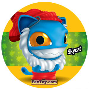 PaxToy.com  Фишка / POG / CAP / Tazo 208 Skycat из Gamesa: Super Funki Punky