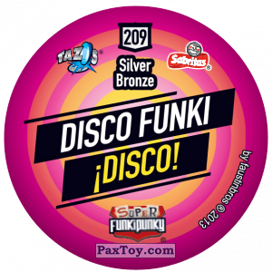 PaxToy.com - Фишка / POG / CAP / Tazo 209 Stinky (Сторна-back) из Gamesa: Super Funki Punky