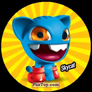 PaxToy.com  Фишка / POG / CAP / Tazo 211 Skycat из Gamesa: Super Funki Punky