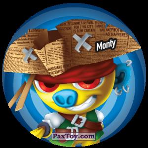 PaxToy.com  Фишка / POG / CAP / Tazo 217 Monty из Gamesa: Super Funki Punky