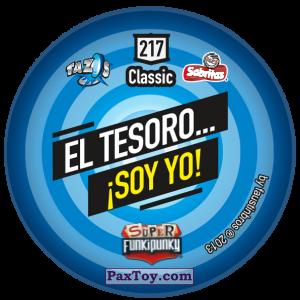 PaxToy.com - Фишка / POG / CAP / Tazo 217 Monty (Сторна-back) из Gamesa: Super Funki Punky