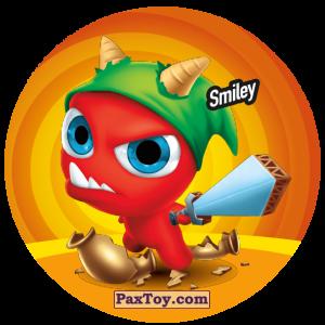 PaxToy.com  Фишка / POG / CAP / Tazo 219 Smiley из Gamesa: Super Funki Punky