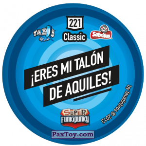 PaxToy.com - Фишка / POG / CAP / Tazo 221 Bunnie (Сторна-back) из Gamesa: Super Funki Punky