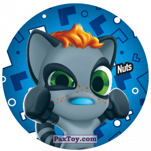 PaxToy.com  Фишка / POG / CAP / Tazo 224 Nuts из Gamesa: Super Funki Punky