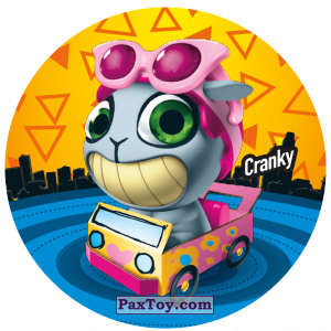 PaxToy.com  Фишка / POG / CAP / Tazo 225 Cranky из Gamesa: Super Funki Punky