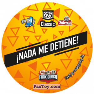 PaxToy.com - Фишка / POG / CAP / Tazo 225 Cranky (Сторна-back) из Gamesa: Super Funki Punky