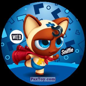 PaxToy.com  Фишка / POG / CAP / Tazo 229 Sniffie (WEB) из Gamesa: Super Funki Punky
