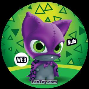 PaxToy.com  Фишка / POG / CAP / Tazo 231 Nuts (WEB) из Gamesa: Super Funki Punky
