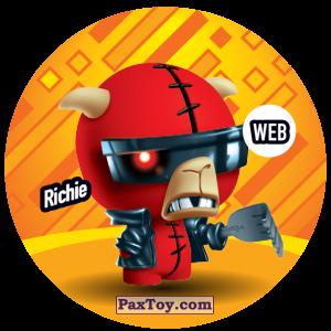 PaxToy.com  Фишка / POG / CAP / Tazo 233 Richie (WEB) из Gamesa: Super Funki Punky