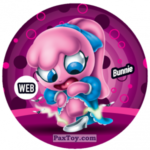 PaxToy.com  Фишка / POG / CAP / Tazo 235 Bunnie (WEB) из Gamesa: Super Funki Punky