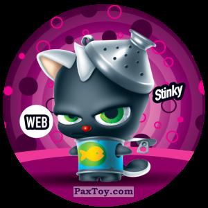 PaxToy.com  Фишка / POG / CAP / Tazo 236 Stinky (WEB) из Gamesa: Super Funki Punky