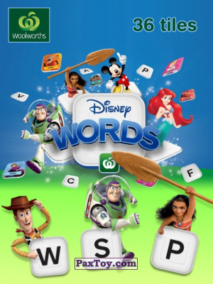 PaxToy Woolworths   2019   Disney Words logo tax