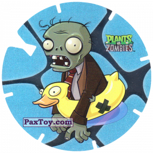 PaxToy.com - 01 Ducky Tube Zombie из Gamesa: Plants Vs. Zombies TAZOS