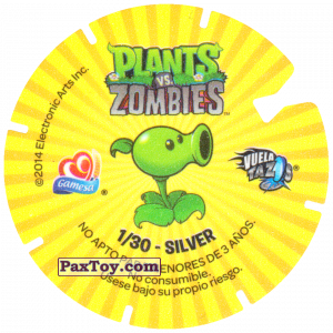 PaxToy.com - 01 Ducky Tube Zombie (Сторна-back) из Gamesa: Plants Vs. Zombies TAZOS