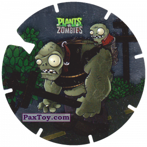 PaxToy.com  Фишка / POG / CAP / Tazo 02 Gargantuar из Gamesa: Plants Vs. Zombies TAZOS