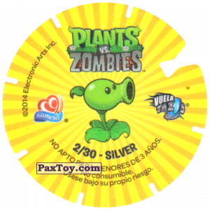 PaxToy.com - Фишка / POG / CAP / Tazo 02 Gargantuar (Сторна-back) из Gamesa: Plants Vs. Zombies TAZOS
