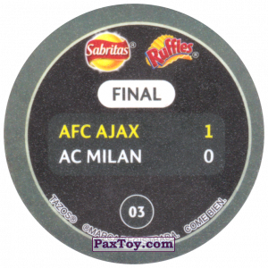 PaxToy.com - 03 1995 Vienna (Сторна-back) из Sabritas: Football Champions League 2019