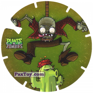 PaxToy.com - 03 Bungee Zombie and Cactus из Gamesa: Plants Vs. Zombies TAZOS
