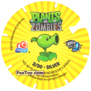 PaxToy.com - 03 Bungee Zombie and Cactus (Сторна-back) из Gamesa: Plants Vs. Zombies TAZOS