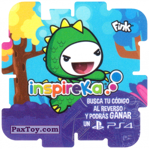 PaxToy.com  Карточка / Card, Фишка / POG / CAP / Tazo 04 Godzilla из Cheetos: Inspireka - Busca tu codigo al reverso y podras ganar un PS4 (TAZOS / Q-Bitazos)