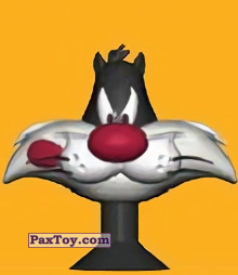 PaxToy.com - 05 Sylvester is hungry из Migros: Tom & Jerry and Looney Tunes Stikeez