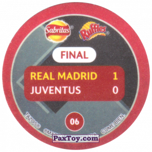 PaxToy.com - 06 1998 Amsterdam (Сторна-back) из Sabritas: Football Champions League 2019