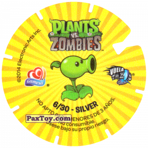 PaxToy.com - 06 Disco Zombies (Сторна-back) из Gamesa: Plants Vs. Zombies TAZOS