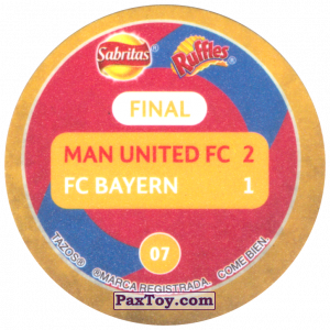 PaxToy.com - 07 1999 Barcelona (Сторна-back) из Sabritas: Football Champions League 2019