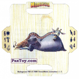 PaxToy.com - 07 Melman and Gloria из Estrella: Madagascar (TAZOS / Q-Bitazos)