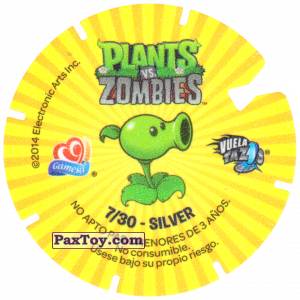 PaxToy.com - 07 Plants (Сторна-back) из Gamesa: Plants Vs. Zombies TAZOS