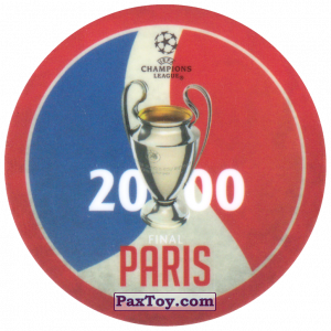 PaxToy.com  Фишка / POG / CAP / Tazo 08 2000 Paris из Sabritas: Football Champions League 2019