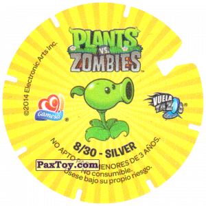 PaxToy.com - 08 Zombies (Сторна-back) из Gamesa: Plants Vs. Zombies TAZOS