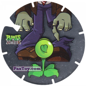 PaxToy.com  Фишка / POG / CAP / Tazo 09 Peashooter Vs Zombie из Gamesa: Plants Vs. Zombies TAZOS