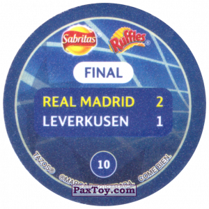 PaxToy.com - 10 2002 Glasgow (Сторна-back) из Sabritas: Football Champions League 2019
