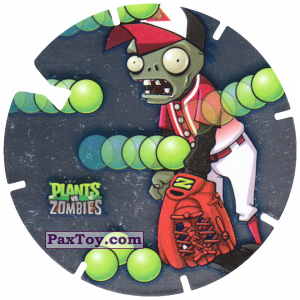 PaxToy.com - 10 Baseball Zombie из Gamesa: Plants Vs. Zombies TAZOS