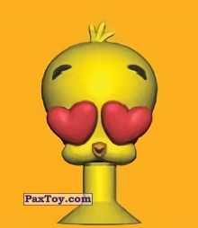 PaxToy.com  Stikeez, Прилипалы 10 Tweety fell in love. из Migros: Tom & Jerry and Looney Tunes Stikeez
