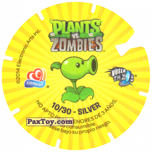 PaxToy.com - 10 Baseball Zombie (Сторна-back) из Gamesa: Plants Vs. Zombies TAZOS