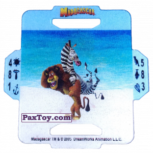 PaxToy.com  Q-Bitazo, Карточка / Card 11 Alex and Marty из Estrella: Madagascar (TAZOS / Q-Bitazos)