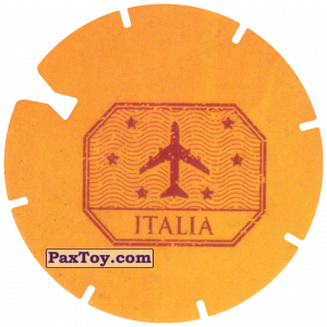 PaxToy.com - 11 Yellow Tazo - Logo Italia (MEGA TAZO) из Doritos: Spider-Man Lejos De Casa (MEGA TAZOS)