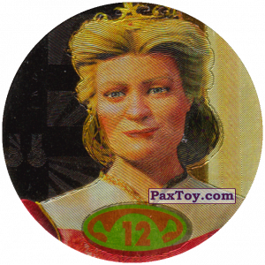 PaxToy.com  Фишка / POG / CAP / Tazo 12 Queen Lillian из Cheetos: Shrek 2 (50 штук)